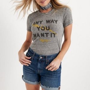 NWT Journey x Lucky Brand Journey Band Tee M Grey